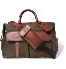 Ralph Lauren Purple Label Leather-Trimmed Canvas Holdall