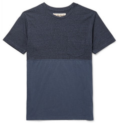 Mollusk Slim-Fit Panelled Cotton-Blend and Jersey T-Shirt