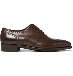 Gaziano & Girling Rothschild Polished-Leather Wingtip Brogues
