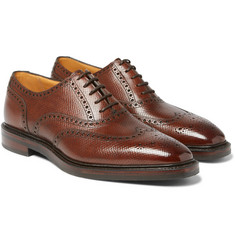 Gaziano & Girling Rothschild Cross-Grain Leather Wingtip Brogues