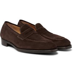 Gaziano & Girling - Holkham Suede Penny Loafers