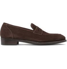 Gaziano & Girling Holkham Suede Penny Loafers