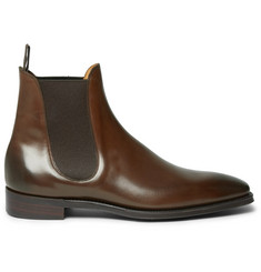 Gaziano & Girling Burnham Burnished-Leather Chelsea Boots