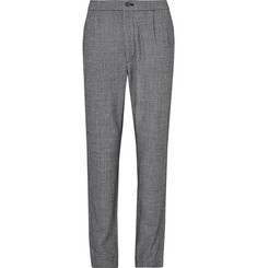 Camoshita - Pleated Puppytooth Wool Trousers
