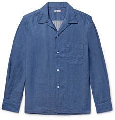 Camoshita - Slim-Fit Camp-Collar Denim Shirt