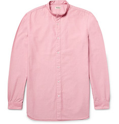 Camoshita Slim-Fit Grandad-Collar Cotton Oxford Shirt
