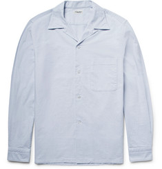 Camoshita - Slim-Fit Camp-Collar Cotton-Oxford Shirt