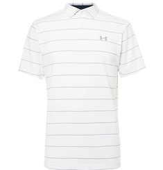 Under Armour Playoff Striped Stretch-Jersey Golf Polo Shirt