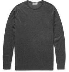 John Smedley Sea Island Cotton and Cashmere-Blend Sweater