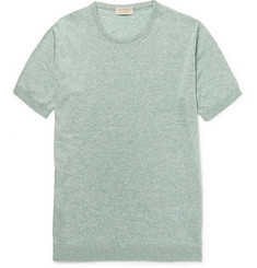 John Smedley Stonewell Slim-Fit Sea Island Cotton and Cashmere-Blend T-shirt