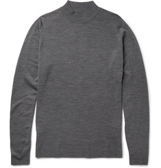 John Smedley - Funnel-Neck New Wool Sweater