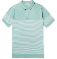 John Smedley Kiefer Striped Cotton Polo Shirt