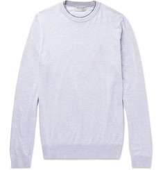 John Smedley Contrast-Trimmed Sea Island Cotton Sweater