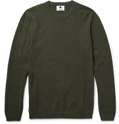 NN07 Albert Basketweave Cotton Sweater