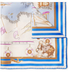 Rubinacci Mediterraneo Printed Silk-Twill Pocket Square