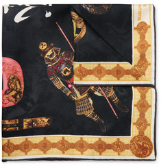 Rubinacci - Samurai Printed Silk-Twill Pocket Square