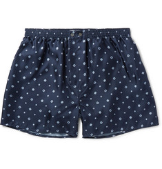 Derek Rose Otis Printed Silk Boxer Shorts