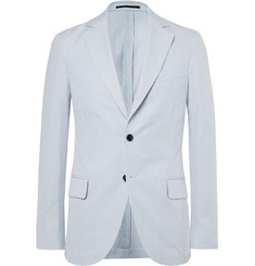 MP Massimo Piombo - Blue Striped Cotton Blazer