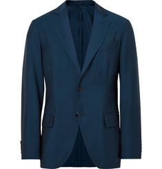 MP Massimo Piombo Blue Slim-Fit Wool and Mohair-Blend Suit Jacket