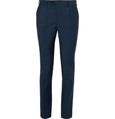 MP Massimo Piombo Blue Slim-Fit Wool and Mohair-Blend Suit Trousers