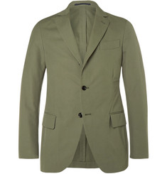 MP Massimo Piombo Green Slim-Fit Woven Cotton Suit Jacket