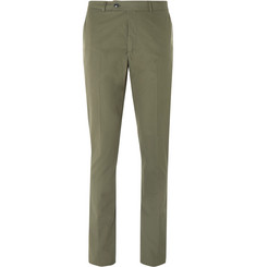 MP Massimo Piombo Green Slim-Fit Woven Cotton Suit Trousers