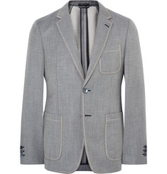 Prada Slim-Fit Unstructured Mohair and Virgin Wool-Blend Blazer