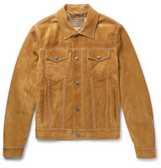 Prada Slim-Fit Suede Jacket