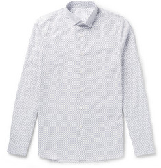 Prada - Slim-Fit Star-Print Cotton-Poplin Shirt