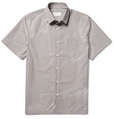 Prada Slim-Fit Star-Print Cotton-Poplin Shirt