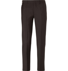Prada Slim-Fit Cropped Mohair and Wool-Blend Trousers