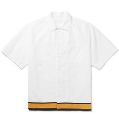 Prada Stripe-Trimmed Cotton-Poplin Shirt