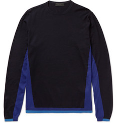 Prada Panelled Virgin Wool Sweater