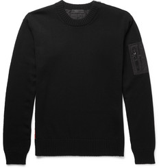 Prada Zip-Detailed Virgin Wool and Cotton-Blend Sweater