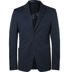 Prada Blue Slim-Fit Stretch-Cotton Twill Blazer