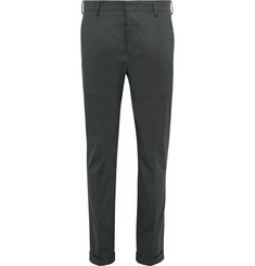 Prada Slim-Fit Stretch-Cotton Twill Trousers
