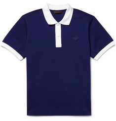 Prada - Contrast-Trimmed Cotton-Piqué Polo Shirt