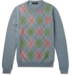Prada Argyle Knitted Sweater