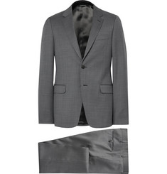 Prada - Grey Slim-Fit Checked Virgin Wool Suit