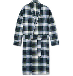 Sleepy Jones - Checked Cotton-Flannel Robe