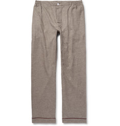Sleepy Jones + David Coggins Houndstooth Cotton-Flannel Pyjama Trousers