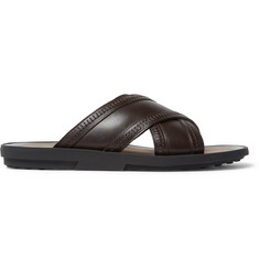 Tod's Stitched Leather Slides
