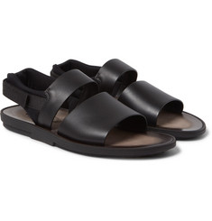 Tod's - Neoprene-Trimmed Leather Sandals