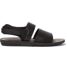 Tod's Neoprene-Trimmed Leather Sandals