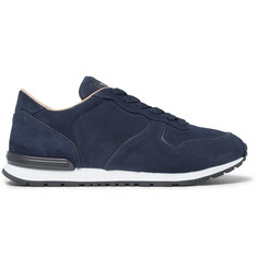 Tod's Panelled Suede Sneakers