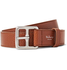 Mulberry - 3cm Brown Boho Full-Grain Leather Belt