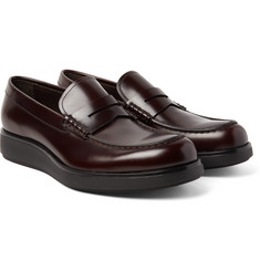 Prada - Spazzolato Leather Penny Loafers