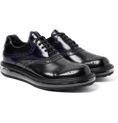 Prada - Polished-Leather Oxford Brogues