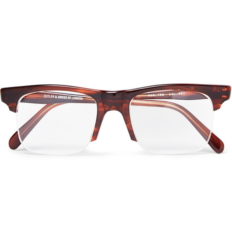 ff30a84077 Kingsman + Cutler And Gross Square-Frame Tortoiseshell Acetate Optical  Glasses