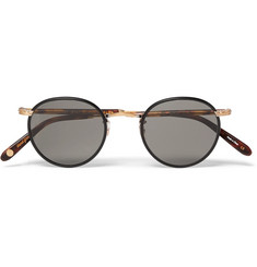 Garrett Leight California Optical Wilson Round-Frame Acetate and Gold-Tone Sunglasses